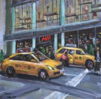 NYC Taxis by Wulff-Arts