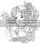 Art of Meadowhaven Coloring Page: Little Minstrel by Saimain