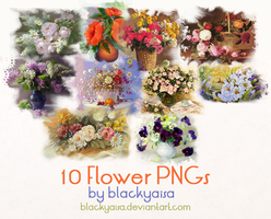 Flower PNGs: 8 by blackyaisa