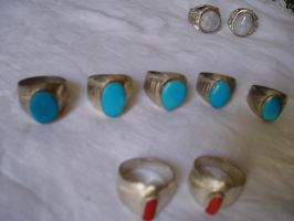 Turquoise, Coral, Opals by zamir