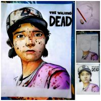 Clementine Walking Dead by leimapagdalita