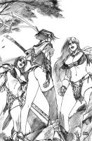 Hiroko and the Valkyries by scruffyronin