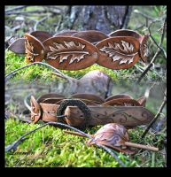Oak leaves - leather belt by Laurefin-Estelinion