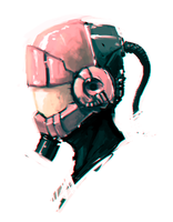 Sci-fi helmet speedpaint by HawtKoffee