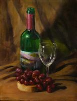 Wine still life by EthicallyChallenged