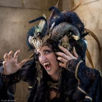 Stock - Black and gold Vampire Queen Faun Demon 44 by S-T-A-R-gazer