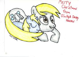Merry Christmas from Dinky and Derpy by shobonimaster