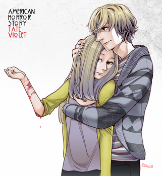 american horror story Tate and Violet. by yahuxx28