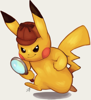 The Great Detective Pikachu!! by Sushirolled