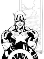 Captain America Inks by ladykelly