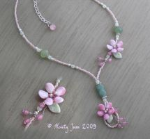 Cherry Blossom Garden necklace by HylianJean