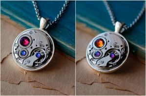 Steampunk pendant by Devil's Jewel by Catarios