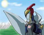 Swoopy with the opened wings by Dinobots-Club