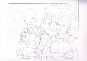 Let's Draw Sherlock x Mass Effect Crossover WIP 4 by mythlover20