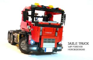 LEGO Technic truck MOC by HorcikDesigns