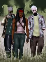 Michonne and New Pets by Rene-L