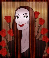 Morticia Addams by JollyRotten