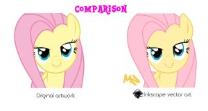 My Little Pony-Original/Inkscape Vector Comparison by SaturnCronus