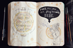 Wreck This Journal: Page 6, 7 by MichaelaKindlova