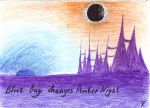 Blue Day Changes Amber Night by Mystery-Voice