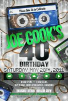 40th Birthday Invitation by AnotherBcreation