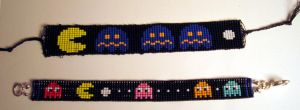 Pac-Man Bracelets 1 and 2 by PookNero