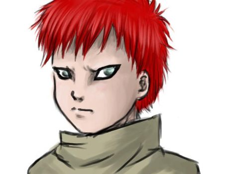 Child Gaara by Anima-Auburne