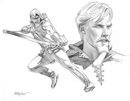 Green Arrow Model Sheet by mikemayhew