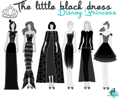 The Little Black dress Disney Princess by natashajade
