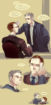 Sherlock - That afternoon he forgot his umbrella by zzigae