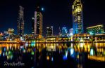 Melbourne at Night by DanielleMiner
