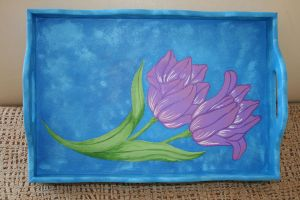 tray painted by me... 1 by snaplilly
