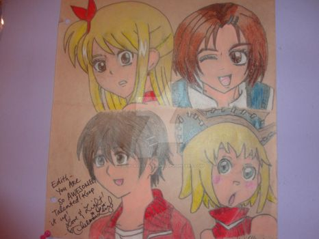 Daisho Con 2013|Lucy,Sae,Kyoko,and Patty Drawing| by CutieCrittersIsland