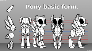 Pony basic shape Pegasus. by Skwareblox