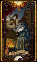 9 The Hermit - Tarot Card - 0 by Cupcakes-lover