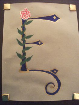 Illuminated Letter by fantasylover42