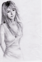 pencil drawing_stella by The-m00nriver