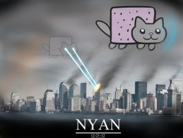 Nyan Cat apocalypse by williamcjones48