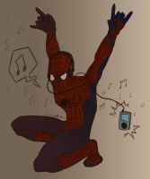 Rock on, Spider-dude by LittleWheat