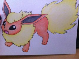 Virgil's Flareon- Drawing- Pencils by sazmullium