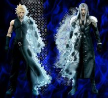Cloud and Sephiroth by itachi3054