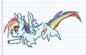 RainbowDash kitty Scribble Chibi! by Eternal-Glow