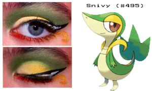 Pokemakeup 495 Snivy by nazzara