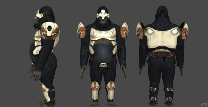 Gorrila Grodd Injustice 2 Normal Outfit by SSingh511
