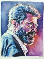 Watercolor painting of Logan by chaseroflight