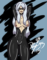 PAM: Black Cat (Semi-Nude) by DoctorSparks