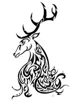 Kashmir Stag Awareness Tribal by Friend-Owl