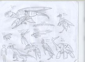 Cyborg Insect Sketchdump by RoFlo-Felorez