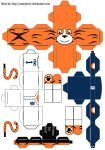 Detroit Tigers Paws Cubeecraft by scarykurt