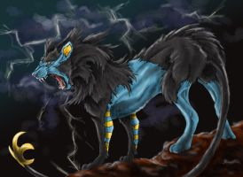 Realistic Luxray Pokemon by quinnk